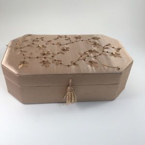Other - Asian Style Gold Silk Fabric Jewelry Box!